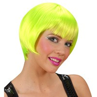 Rave pruik neon groen