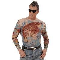 Tattoo T-Shirt tijger en draak man