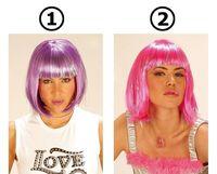 Trendy pruik cool roze paars