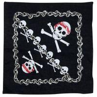 Zwarte bandana piraat met schedel