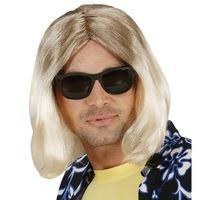 Foute blonde pruik man