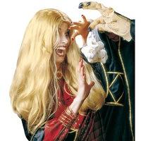 Heksen pruik blond Morgana lang haar