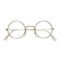 Kerstman bril gouden montuur met ronde glazen