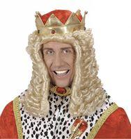 Koning pruik volwassen king arthur de second
