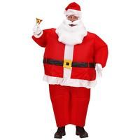 Opblaasbare dikke kerstman kostuum volwassen