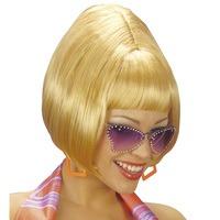 Pruik blond jaren zeventig disco
