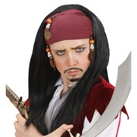 pruik pirate of the caribean piraat jack sparrow voor kinderen