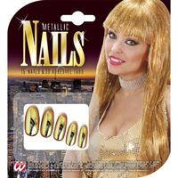 Goude nagels metallic