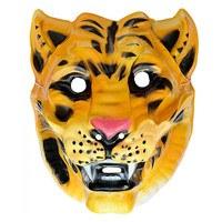 Brullend tijger masker plastic