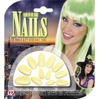 Groen heksen nep nagels lichtgevend in het donker