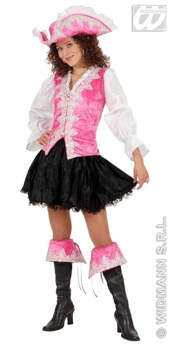 luxe pirate dame , piraten outfit  roze