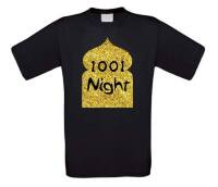 1001 night t-shirt korte mouw glitter goud