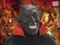 Masker zwart duivel lachend