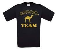 T-shirt camel team kamelen team glitter goud korte mouw