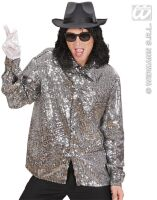 disco pailetten blouse zilver king of pop