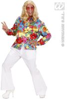 hippie , flower power blouse satijn