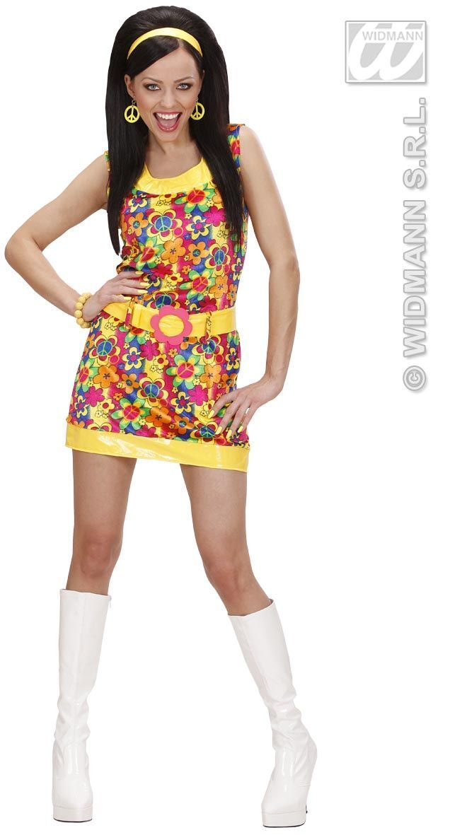 hippie dame fluweel sixties outfit