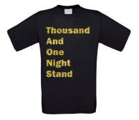 Thousand and one night stand t-shirt korte mouw glitter goud