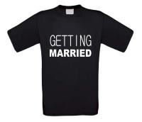 Getting married ik ga trouwen t-shirt korte mouw