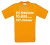 foto 1 50 procent dutch 50 procent nederlander is 100 procent hollander  t-shirt korte mouw oranje