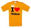 foto 1 i love willem shirt