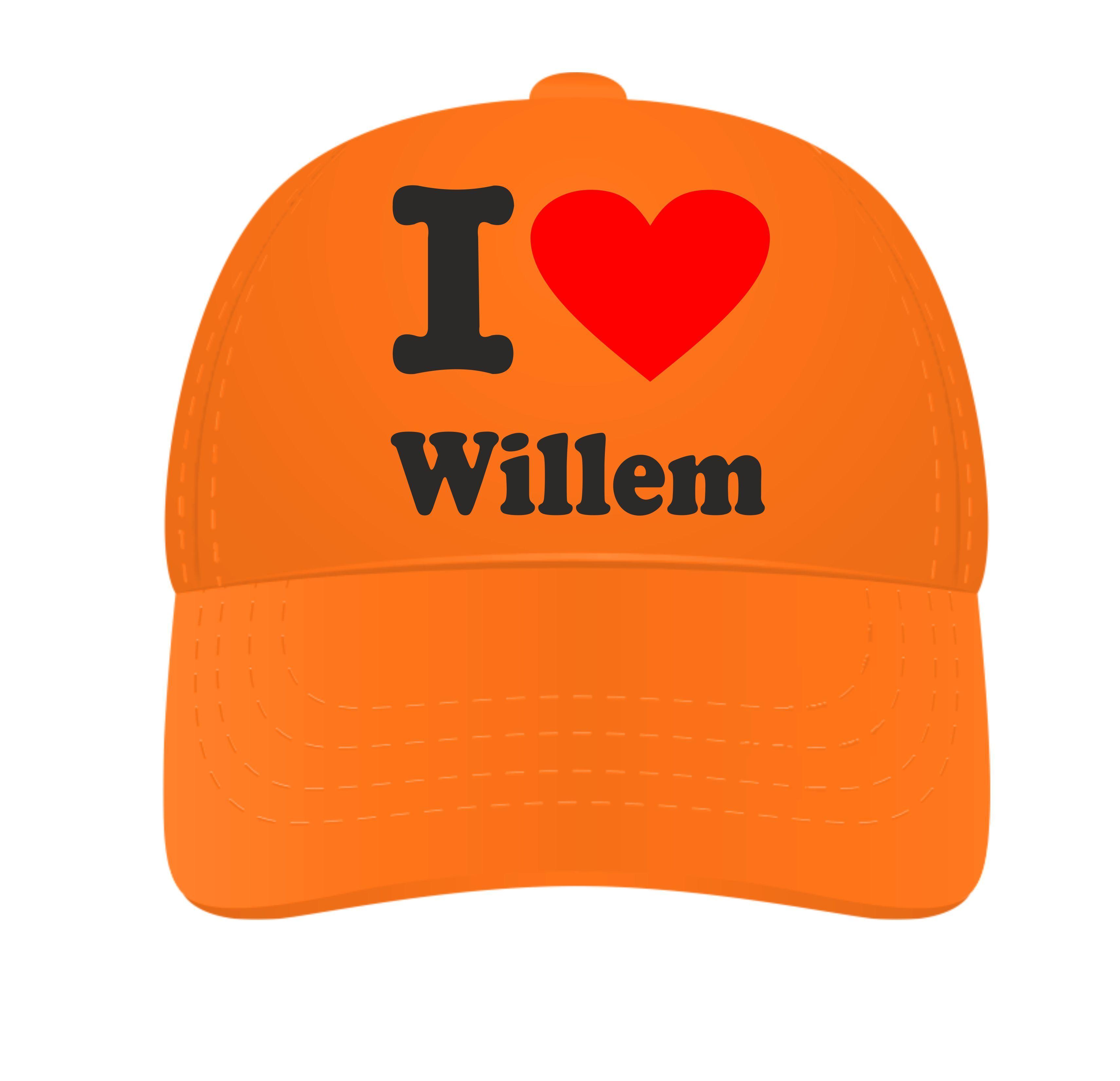 Petje i love Willem oranje Goedkope Feestwinkel