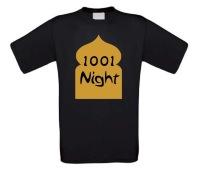 1001 night t-shirt korte mouw goude opdruk