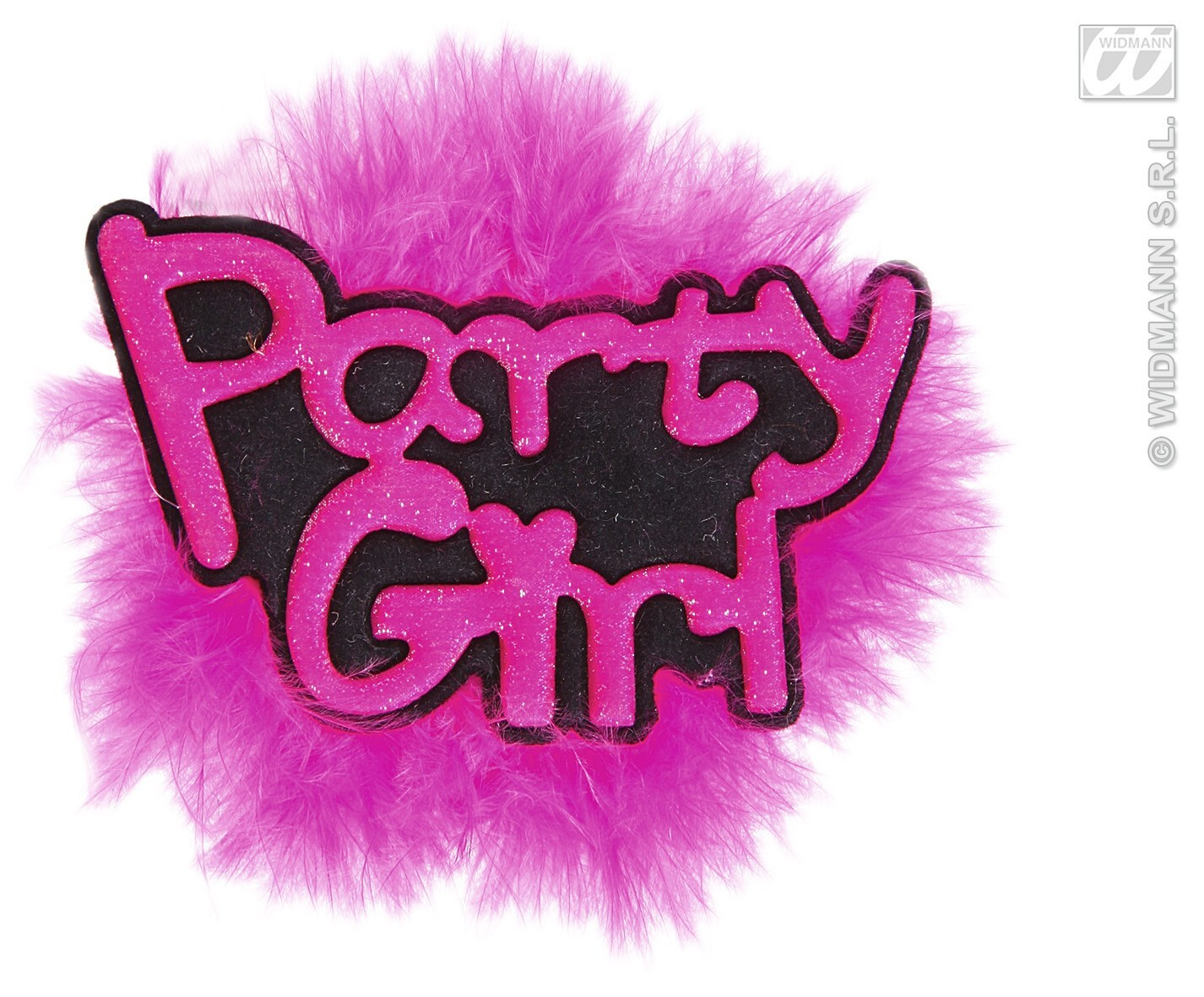 Broche rose party girl