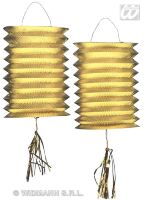 Lampion metallic goud