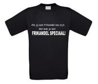 Als jij een frikandel zou zijn dan was je een frikandel speciaal t-shirt korte mouw