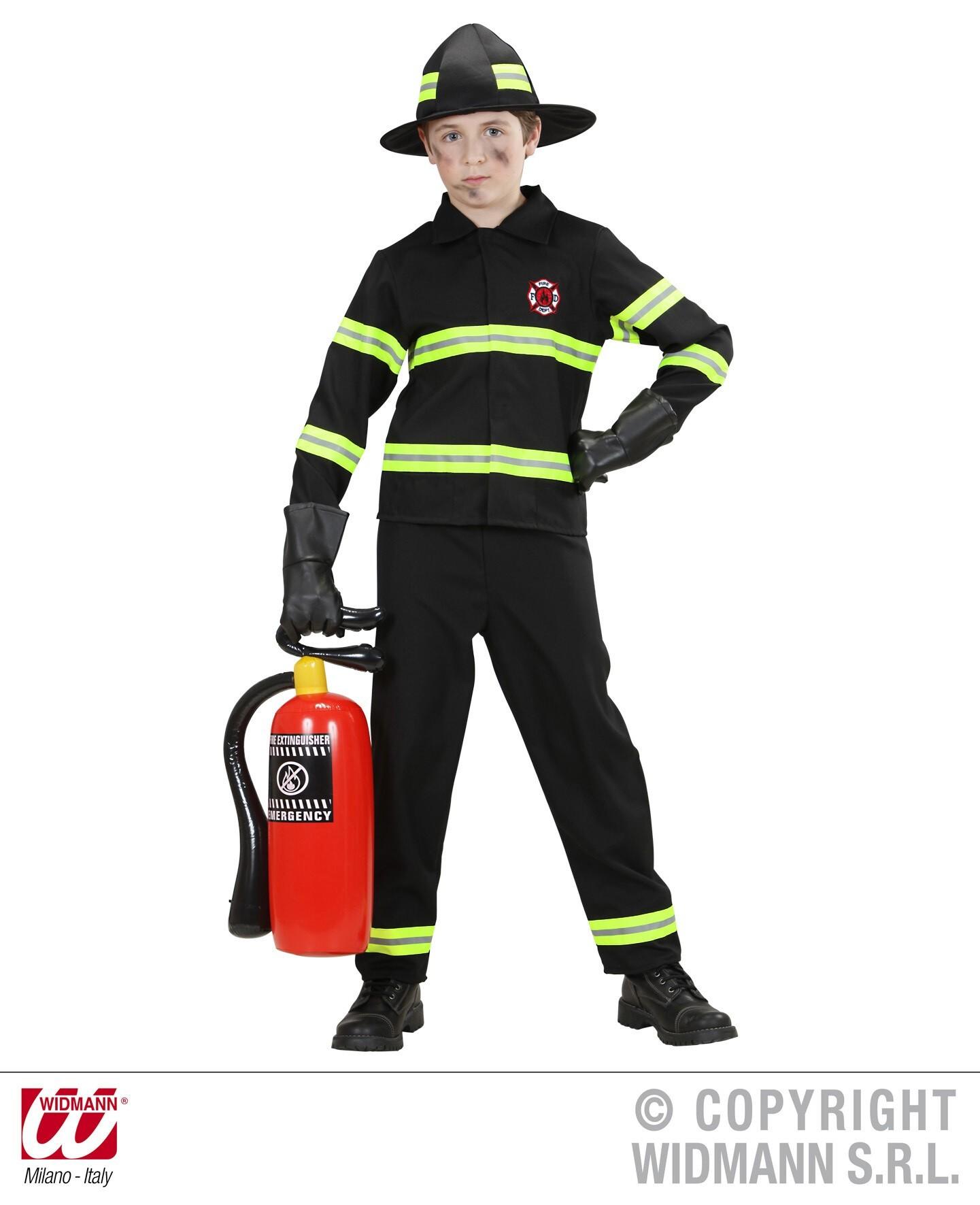 Brandweer Kostuum Brandweerpak Met Reflectie Streep