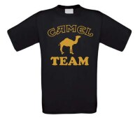 Kamelen team t-shirt korte mouw gouden opdruk