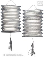 lampion metallic zilver