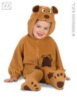 Schattig kleine beer kostuum kind