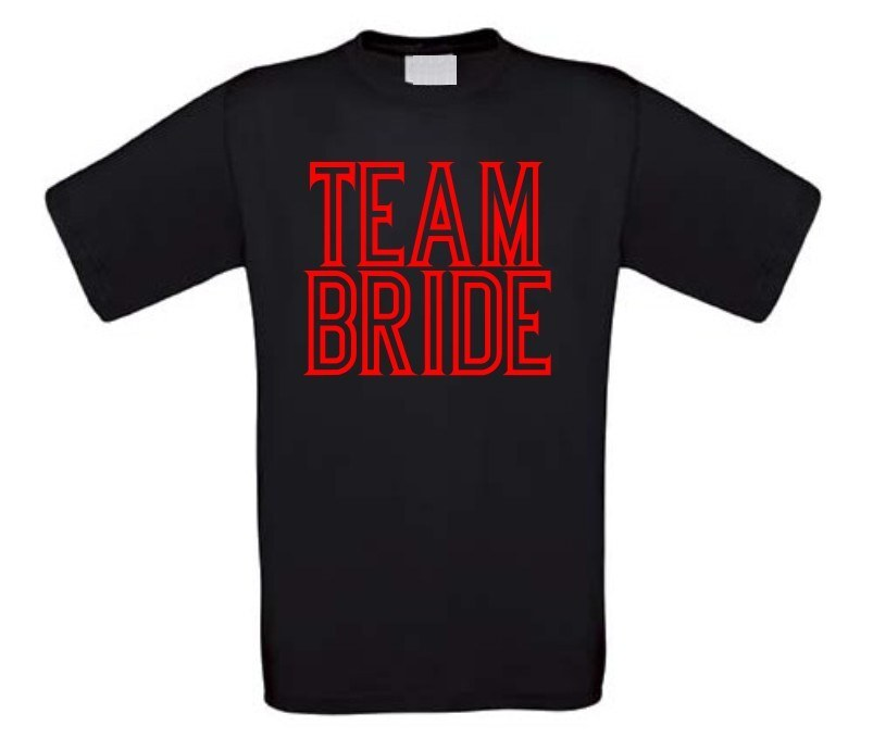 team bride t-shirt korte mouw