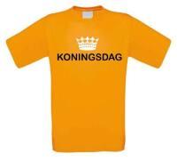 Koningsdag t-shirt oranje korte mouw