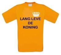 Lang leve de koning t-shirt korte mouw