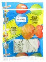 Kwaliteitsballon pastel wit per 50 stuks