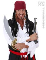 Piraten pruik jack sparrow caribean