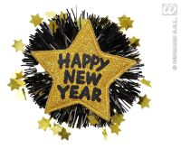Broche goude ster happy new year