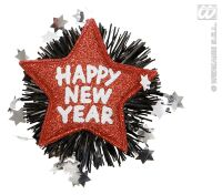 Broche rode ster happy new year