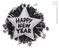 Broche zilvere ster happy new year