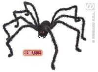 Buigbare grote zwarte weduwe spin 124cm