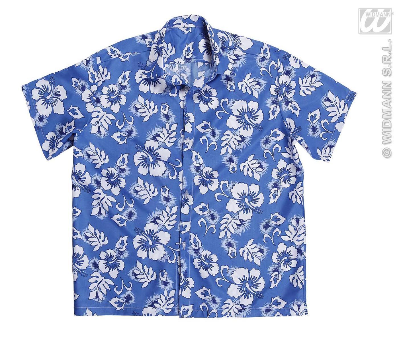 Hawaii blouse blauw