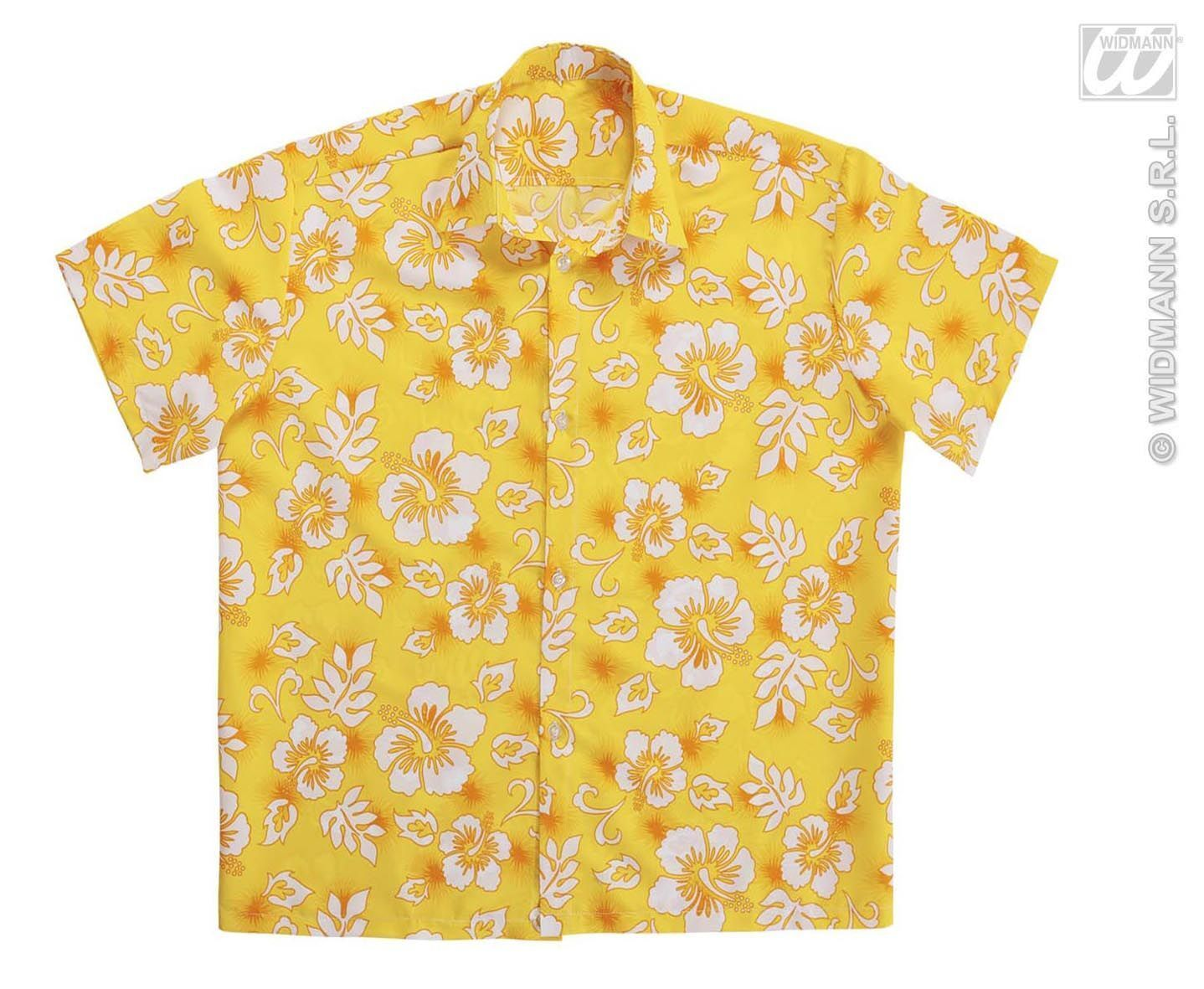 Hawaii blouse geel