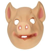 Plastic kinder masker varken