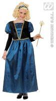 Prinsessen jurk blauw met haarband