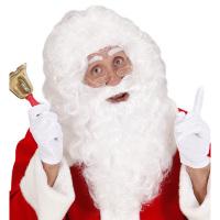 Pruik wit met baard kapitein kerstman tovernaar