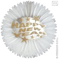 happy new year papieren decoratie doorsnede 25cm