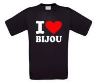 Fun t-shirt korte mouw i love bijou